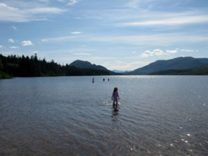 Swimming in Loch Laggan
